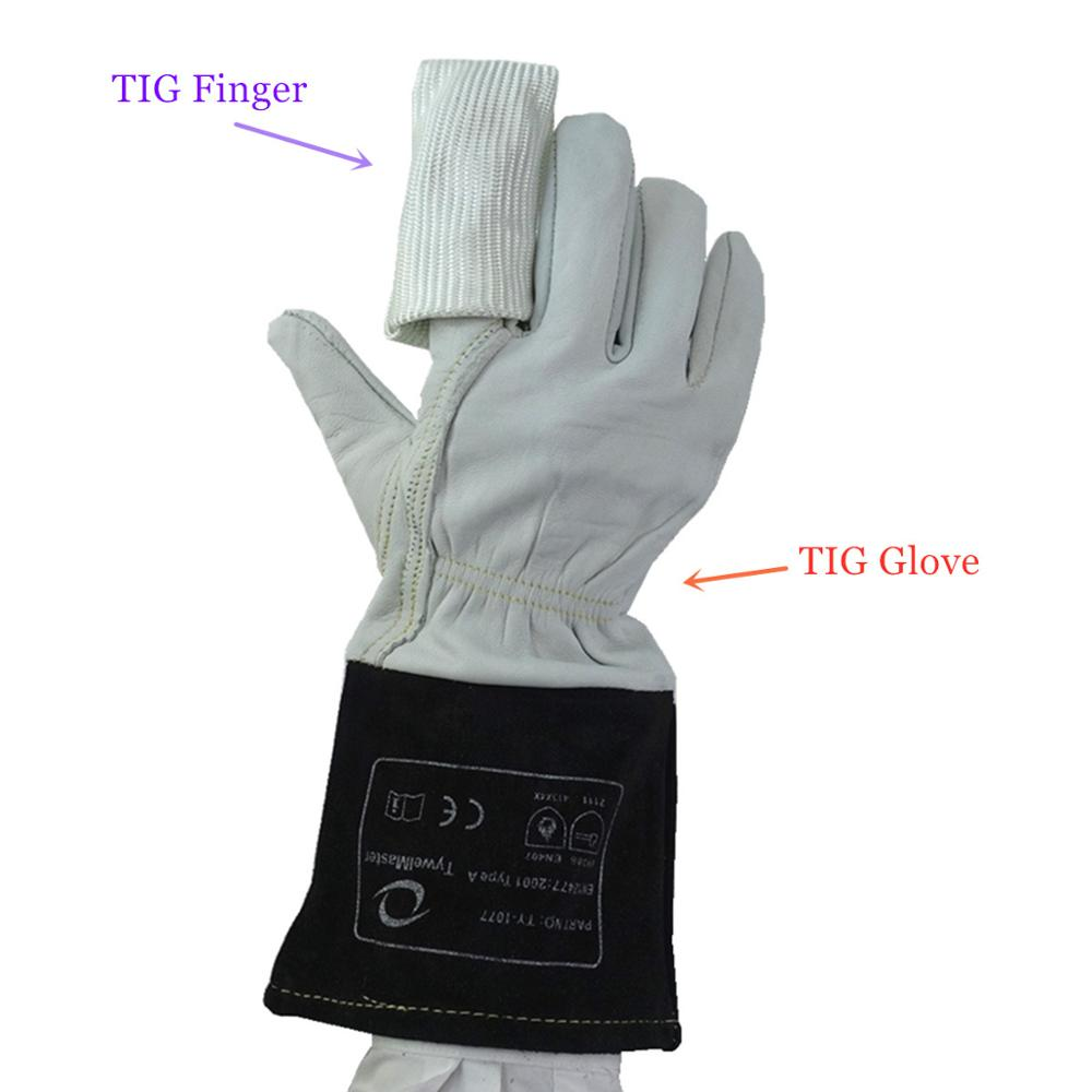 TIG Glove TIG Finger Soft Precision Goatskin Leather Cowhide Cuff Welding Gloves CE EN12477 for TIG Welding