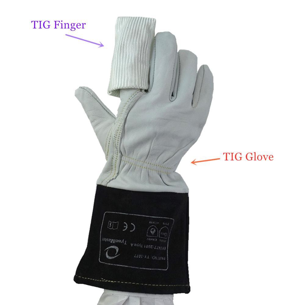 TIG Glove TIG Finger Soft Precision Goatskin Leather Cowhide Cuff Welding Gloves CE EN12477 for TIG Welding