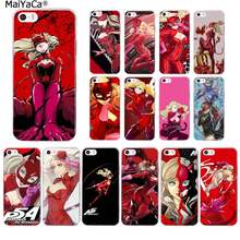 MaiYaCa Anime p5 P Persona 5 Anne Takamaki Transparent TPU couverture de téléphone souple pour iPhone 11 pro XS MAX 8 7 6 6S Plus X 5 5S SE XR(China)