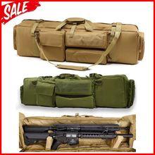 Тактический M249 пистолет сумка страйкбол, милитари, Охота Стрельба Винтовка Рюкзак Открытый пистолет для переноски защиты чехол с плечевым ремнем