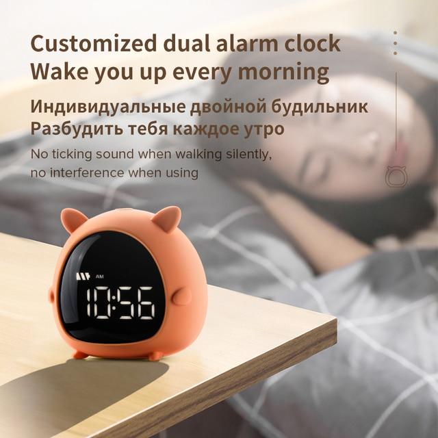 Alarm Clock Kids Child Children Sleep Bedside Alarm Clock Digital Wake Up Temperature Snooze Timer Clock for Bedroom/Table/Desk 4