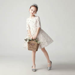 Платье принцессы для девочек на День рождения; Пышное детское платье с цветочным рисунком для девочек; платье для подиума; вечернее платье