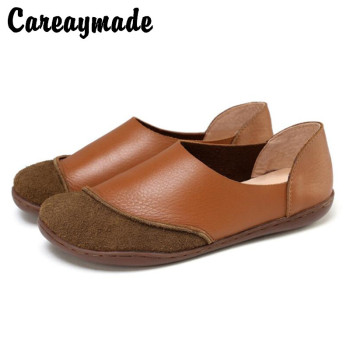 Careaymade-Spring and Summer New hot sell top layer Genuine leather shoes pure handmade art RETRO Japanese Fltas shoes
