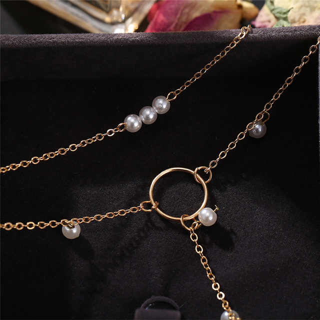 17KM Fashion Long Pearl Necklace For Women Boho Multilayered Pearl Pendant Necklace 2021 Trend Choker Sweater Chain Jewelry 3