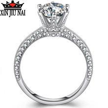925 пробы серебро Делюкс шесть коготь карат дробленый алмаз
