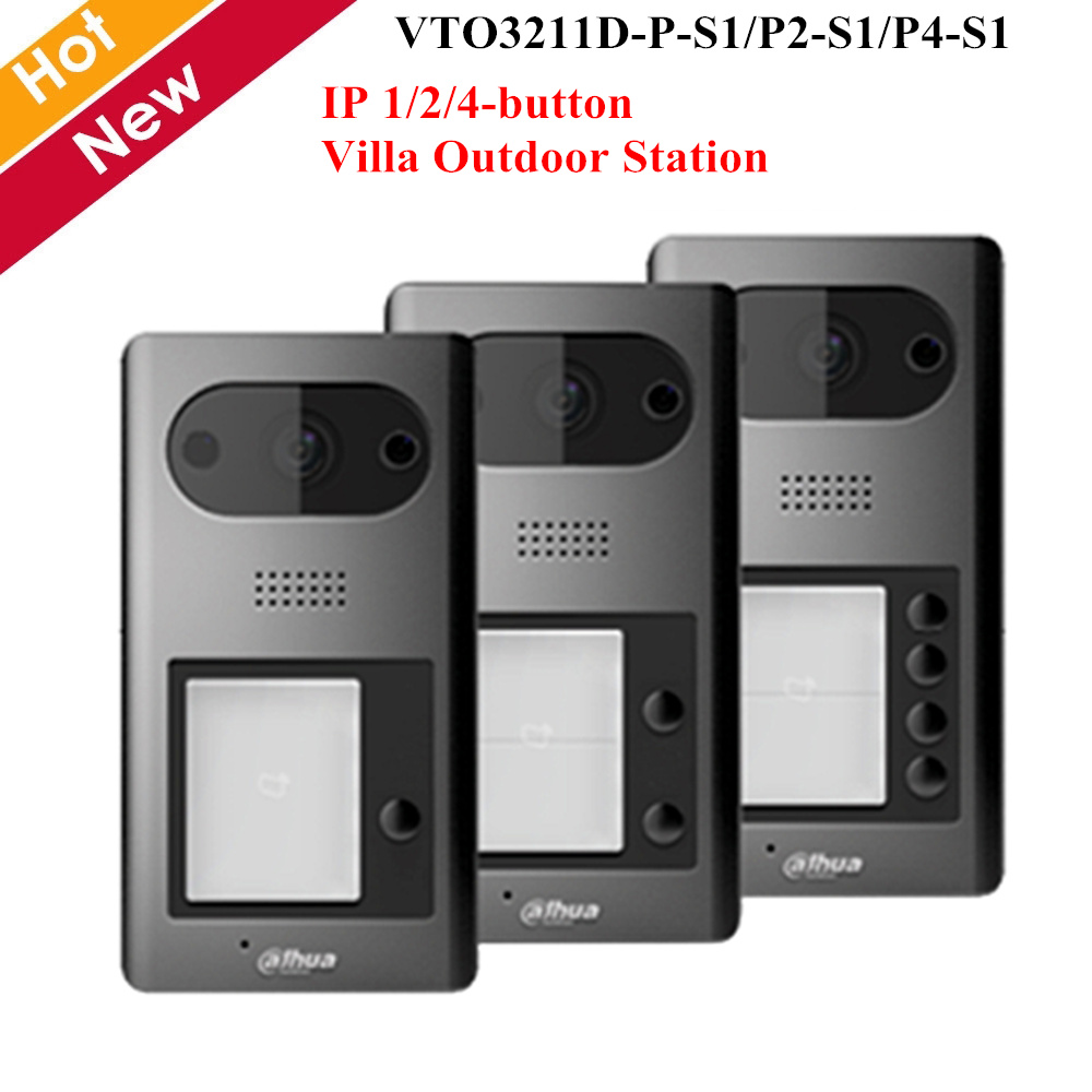 Dahua Video Intercoms IP 1 2 4 Button Villa Outdoor Station VTO3211D-P P2 P4 Optional 2MP HD CMOS Camera ICR Night Vision Voice