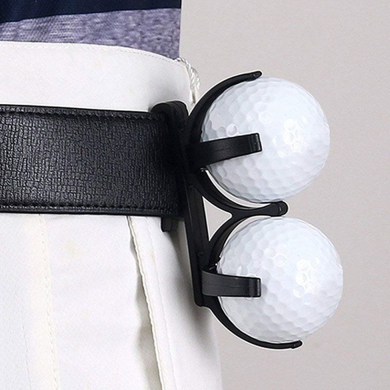 1 Pcs Golf Ball Holder With Clip Can Hold 2 Golf Balls Portable Drop Ship