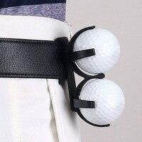 1 Pcs Titular Com Clipe Pode conter 2 Bolas de Golfe Bola de Golfe Portátil do Navio Da Gota Auxiliares treinamento golfe Esporte e Lazer -