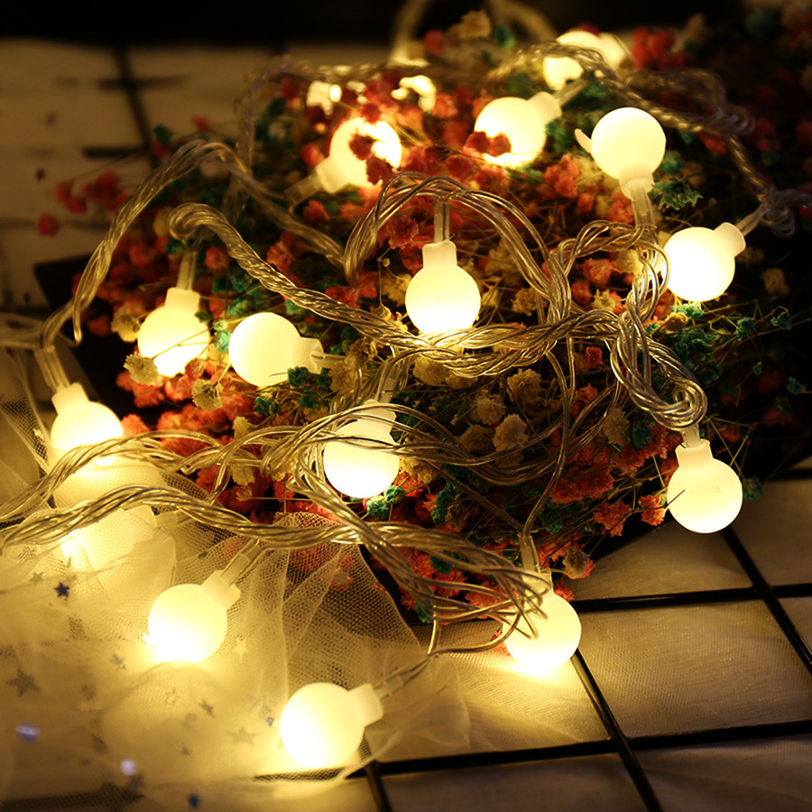 BEIAIDI DC5V USB Powered Starry Ball Fairy LED String Light Outdoor Christmas Party Fairy Light Garland Wedding Holiday Lighting