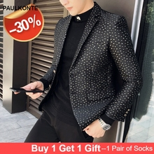 2019 autumn and winter new  size mens suits blazers modal Single BreastedLuxury men clothing leisure