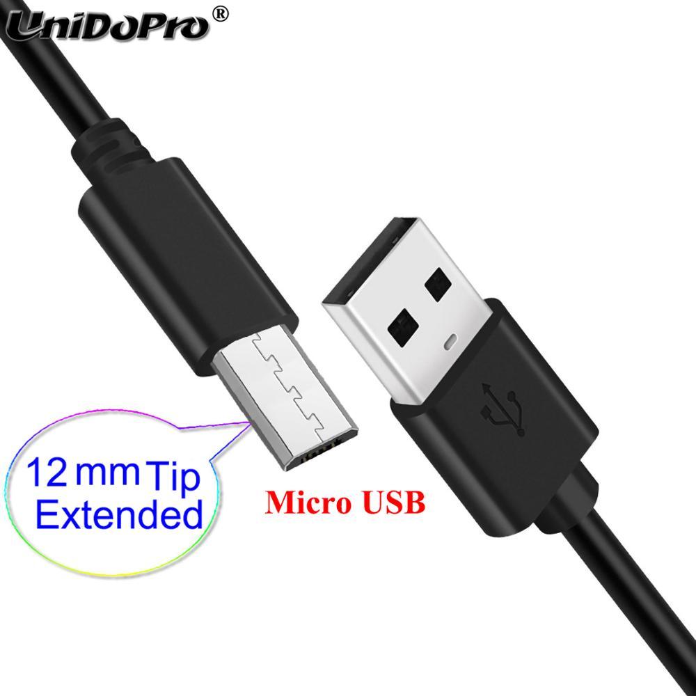 12mm ponta longa extra micro cabo usb conector estendido para ruggear rg650 rg655 rg720
