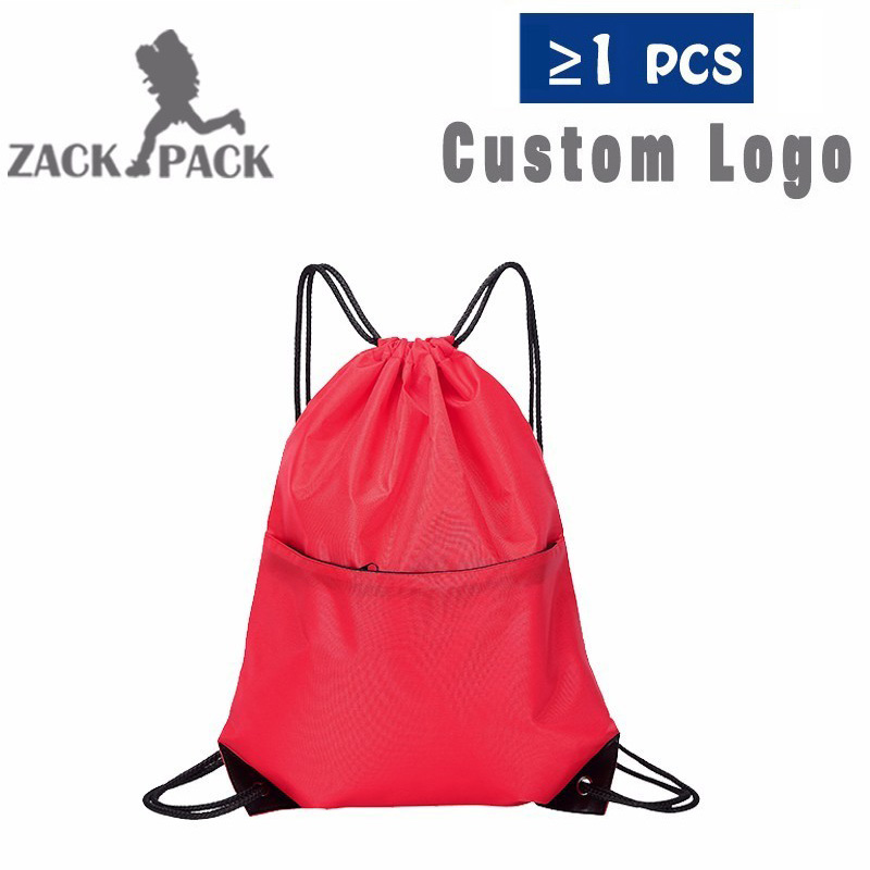New Drawstring Bag Customized Logo Drawstring Backpack Training Backpack Sports Waterproof Printing Logo DB8-TB Six Color Choose