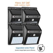 2/4PCS 30 LED Solar Sensor light Solar Lamp motion Outdoor Garden yard Wall Lamps  Security Light Pathway stair deck lights spot
