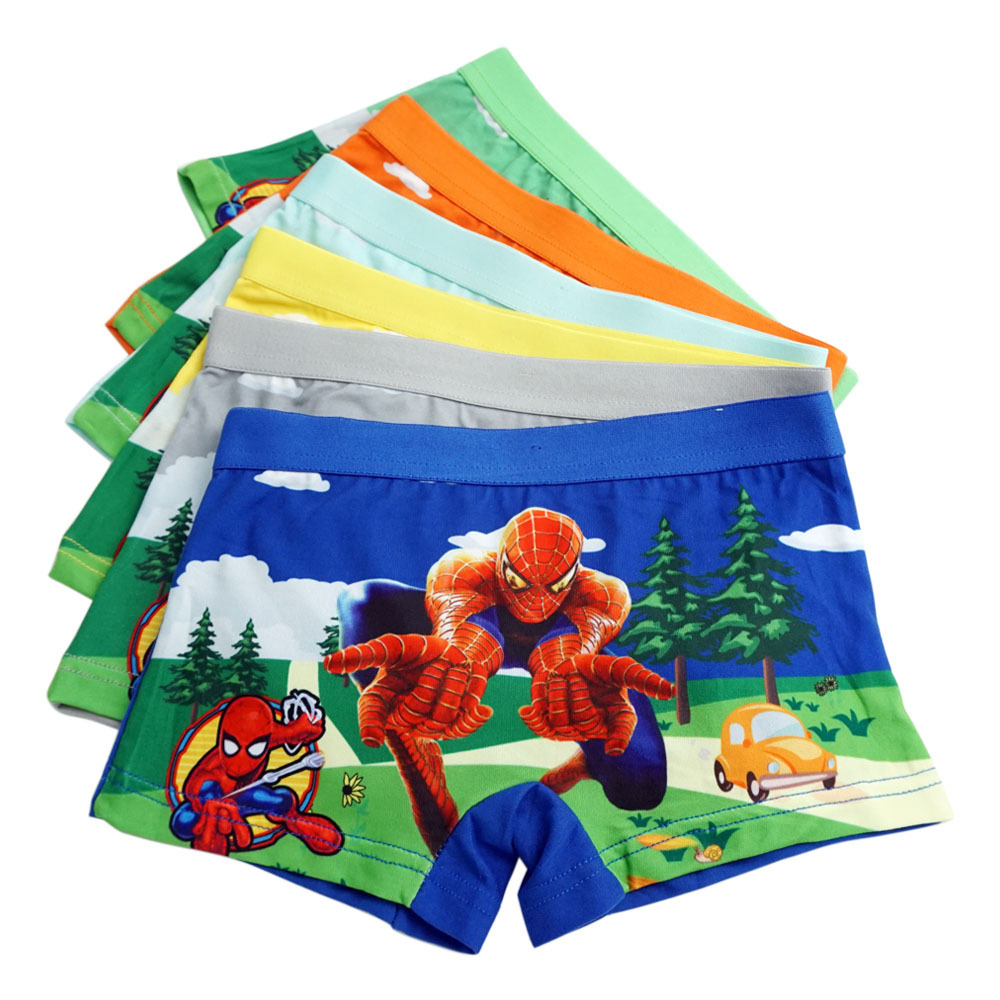 4pcs/lot Cartoon Underpants  Pants Catamite Panties Baby Boy  Boys Boxers Kids Children Spiderman Underwear Kid Panty Briefs