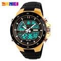 SKMEI 1016 мужские спортивные часы с двойным дисплеем наручные часы Relogio Masculino Топ люксовый бренд Мужские кварцевые часы 5 бар водонепроницаемые