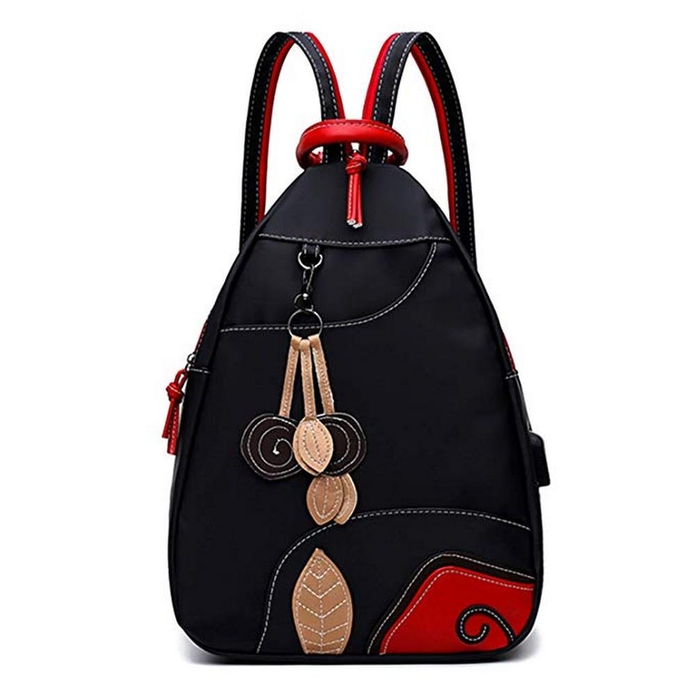 Fashion Women Black Backpack Female Youth Backpacks for Teenage Girls School Shoulder Bags Student College Bookbag Travel Bag