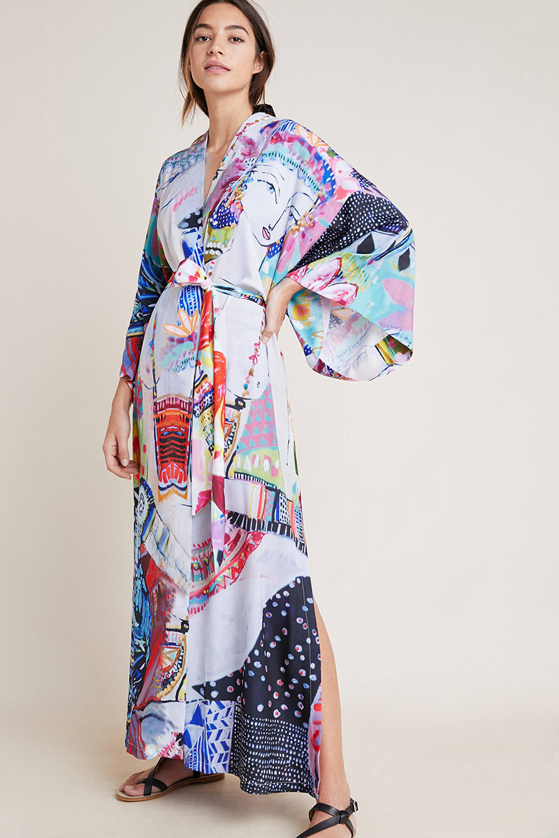 H95a7c71eb53c4143b641c507bdd3748bd - Bohemian Printed Half Sleeve Summer Beach Wear Long Kimono Cardigan Cotton Tunic Women Tops Blouse Shirt Sarong plage N796