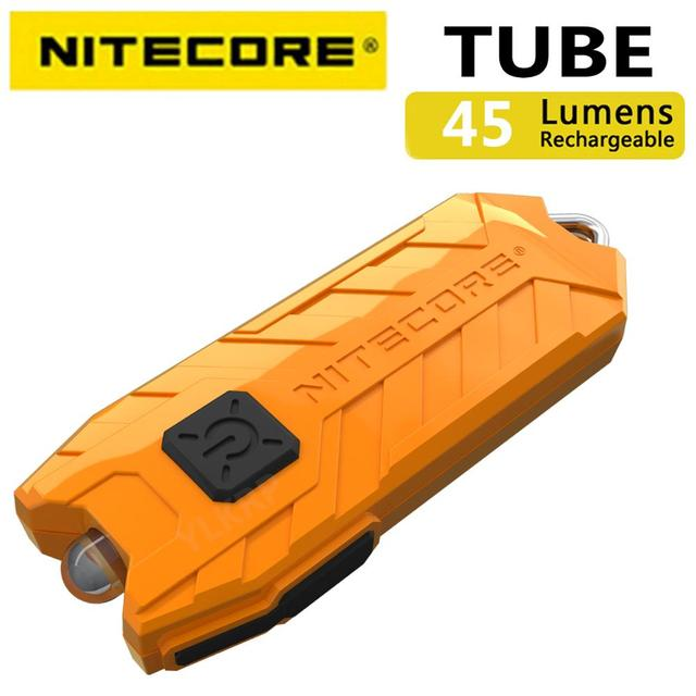 NITECORE 튜브 휴대용 빛 마이크로 USB 충전식 EDC 포켓 손전등 방수 미니 크기 경량 10 다채로운 키 램프