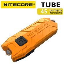 NITECORE tüp taşınabilir ışık mikro usb şarj edilebilir EDC cep el feneri su geçirmez Mini boy hafif 10 renkli anahtar lambası