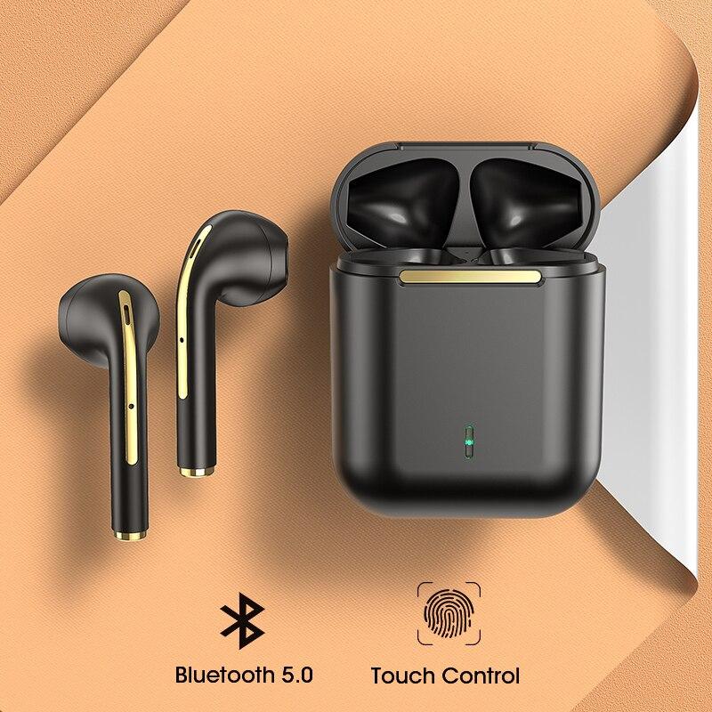 Беспроводной наушники TWS Bluetooth наушники сенсорный Управление спортивная водонепроницаемая гарнитура Hi-Fi стерео наушники с микрофонами