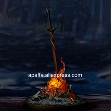 23cm Dark Souls Figure Dark Souls Bonfire 1/6 Scale LED ILLUMINATION Light-up Statue PVC Action Figure Toys Glow Sword Figurine