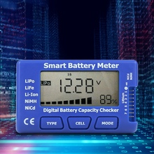 5-In-1 Intelligent Digital Battery Meter Battery Capacity Checker ESC/Servo/PPM Tester With LCD Backlight Display 83x50x15mm