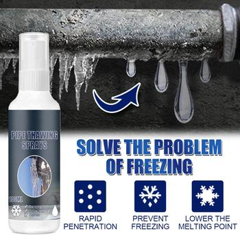 Deicer Car Windshield Rapid Deicing Agent Winter Window Pipe Thawing Agent Spray Faucet Water Pipe Defrost Snow Melting Liquid image