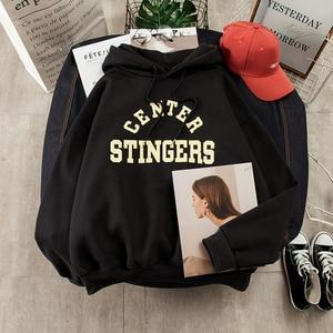 Image 5 - Hoodies Vrouwen Grote Maat Leisure Brief Gedrukt Lange Mouwen Hooded Womens Trui Zachte Katoen Koreaanse Stijl Dames Sweatshirts