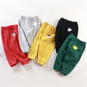 Baby's Cotton Pants with Elastic Waist 1