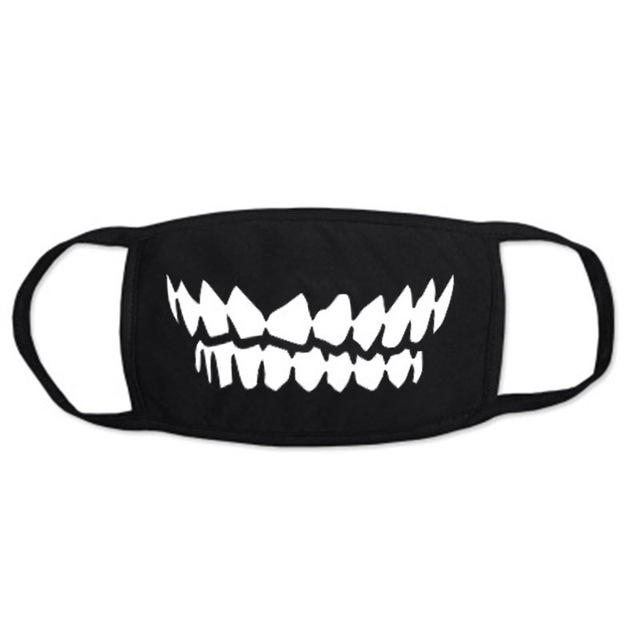 Dustproof Mouth Mask Pop Cotton Face Mouth Mask Cartoon Face Reusable Fabric Anti Pollution Mask Party Mask 3