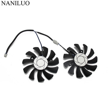 HA8010H12F-Z 75MM 2Pin GTX1050 2GT OC GPU Cooler DUAL Fan For MSI Geforce GTX 1050Ti GTX 1050 Ti 4GT-OC Graphic Card Cooling Fan image