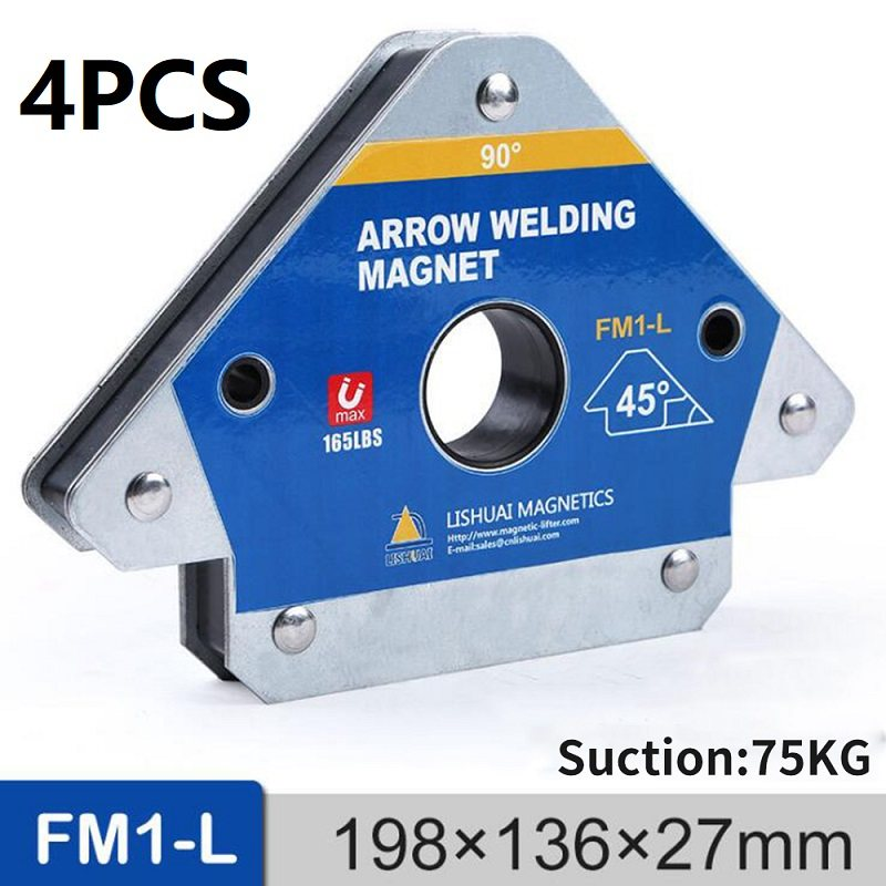 2 PC MULTI-PURPOSE CORNER ARROW MAGNETIC MAGNET WELDING HOLDERS 55LB UP TO 25KG