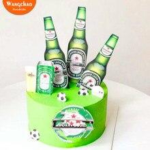 1 Набор пива Баскетбол Футбол Топпер для торта «С Днем Рождения» фестиваль Октоберфест спортивные принадлежности для тематической вечеринки детские сувениры
