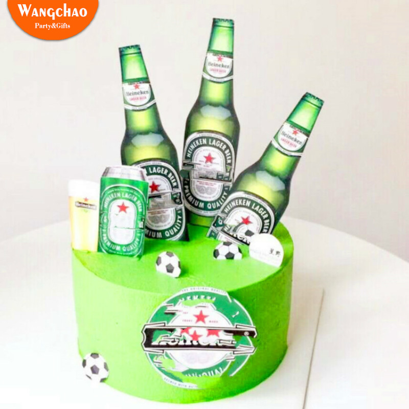 Swell 1 Set Beer Basketball Football Happy Birthday Cake Topper Festival Personalised Birthday Cards Epsylily Jamesorg