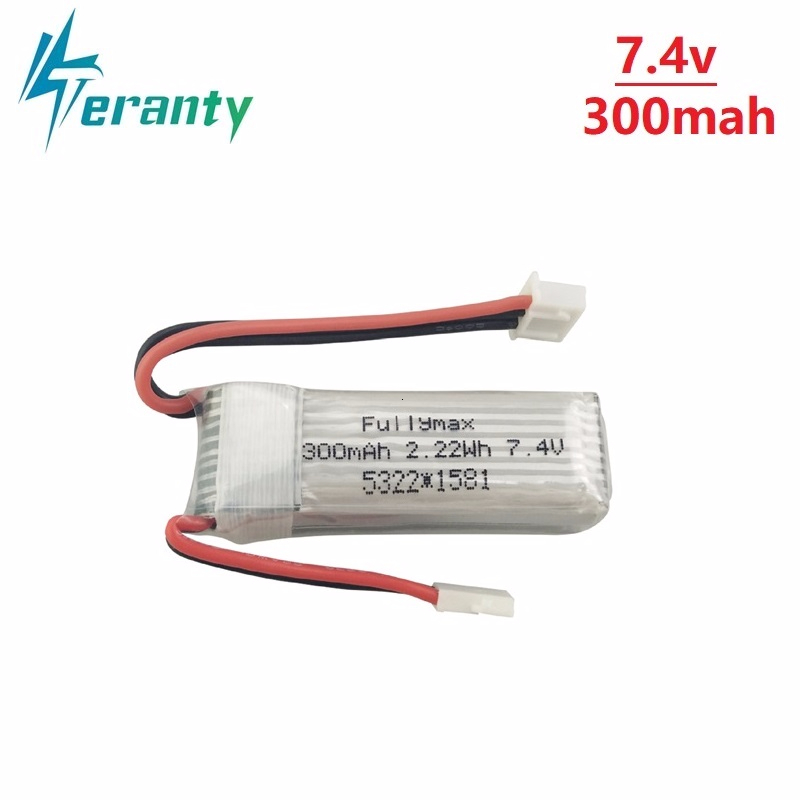 <font><b>7.4V</b></font> <font><b>300mAh</b></font> 30C Lipo <font><b>Battery</b></font> for XK DHC-2 A600 A700 A800 A430 <font><b>7.4v</b></font> lipo <font><b>battery</b></font> for WLToys F959 RC Airplane RTF 1Pcs to 10Pcs image