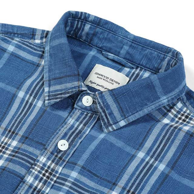 Denims Shirt in blue with white squares
