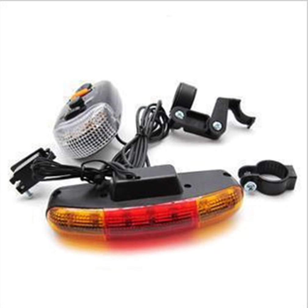 7 LED Bicycle Bike Turn Signal Directional Brake Light Lamp 8 Sound Horn Fixed Mount Set Bicycle Light Safety In Darkness