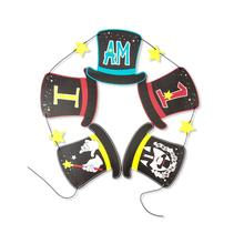 Magic Themed I am 1 one year Birthday Party Bunting Banner Magician Hanging Decoration