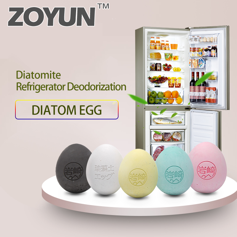 Refrigerator Deodorant Flavoring In The Wardrobe Odor Neutralizer Absorber Box Egg Type Diatom Closet Freshener For Cabinet