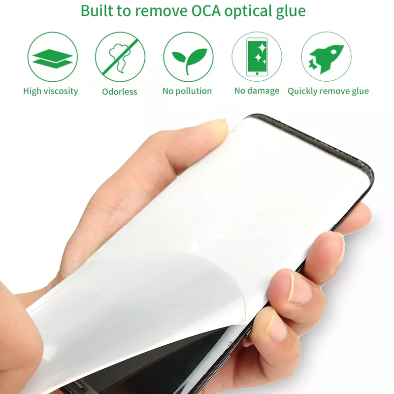 RL-053 50pcs LCD Screen Remove OCA Rework Glue Tape For IPHONE Android Mobile Phone 5.6 Inches 6.7 Inches Lcd