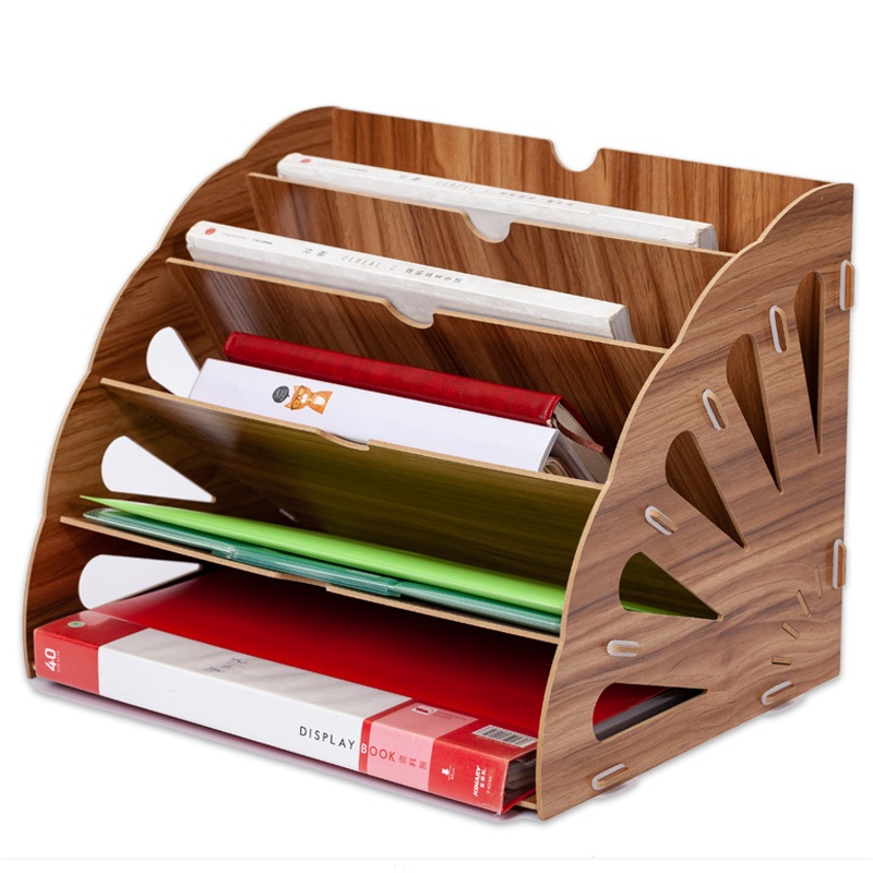 Wood Desk Organizer Office Bureau Pen Holder Wooden Sorter with Drawer Organizer Pen Pencil Organizer|Home Office Storage| |  - title=