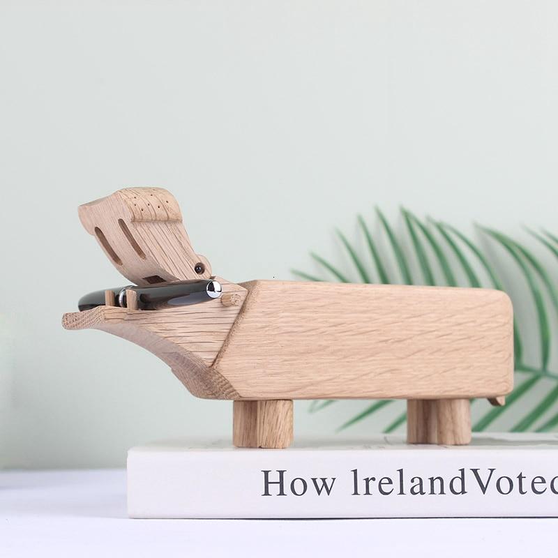 Danemark cadeaux d'anniversaire artisanat ornements en bois jouet hippopotame pur bois fait à la main Spot cadeau d'anniversaire décor à la maison Figurines