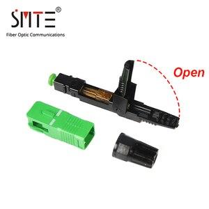 Image 5 - 100ppc/lot Splicer SC APC single mode 60mm APCNPFG 8802 TLC/3 XF 5000 0322 3 Fast Connector SC/APC 0.2dB SM fiber optic