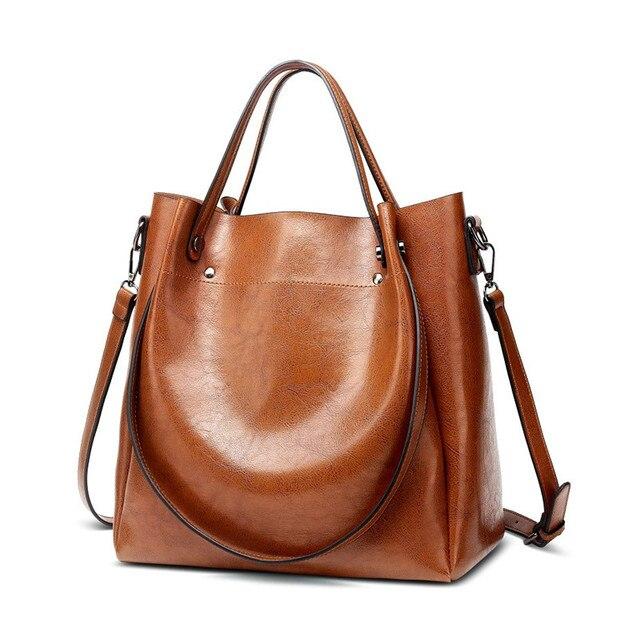 Kadın rahat çanta kadın Tote omuz çantası PU deri bayanlar kova çanta Messenger çanta yumuşak küçük alışveriş Crossbody çanta