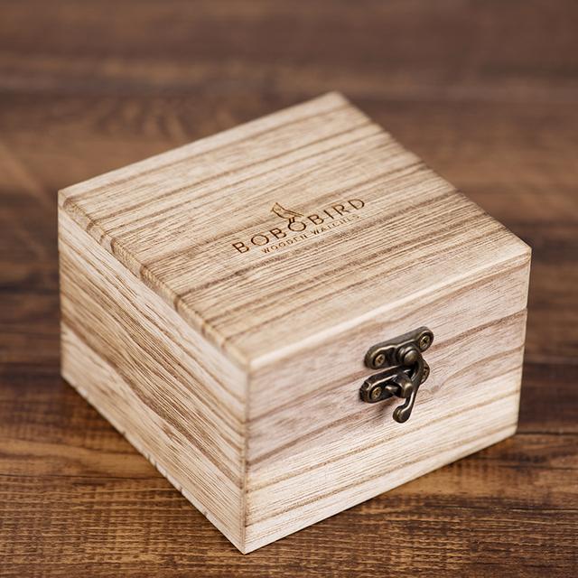 relogio masculino BOBO BIRD Watch Men 2 Time Zone Wooden Quartz Watches Women Design Men's Gift Wristwatches In Wooden Box W-R10