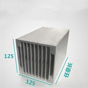 125*125*100/150/200/300/400mm Praça Módulo de Refrigeração de Ar Do Radiador Eletrônico width125, alta de 125 Personalizado perfil De Alumínio do dissipador de calor