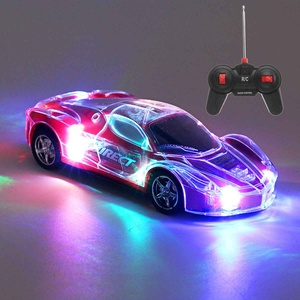1/24 RC Car Remote Control High Speed Racing Car with 3D Lights ABS Plastic RC Car Toy Kids Birthday Christmas Gift Toy