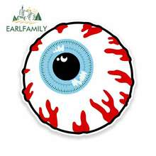 EARLFAMILY 13cm x Cartoon Eye Eyeball Funny Car Stickers RV VAN 3D DIY Fine Decal Vinyl JDM Bumper Trunk Truck Graphics