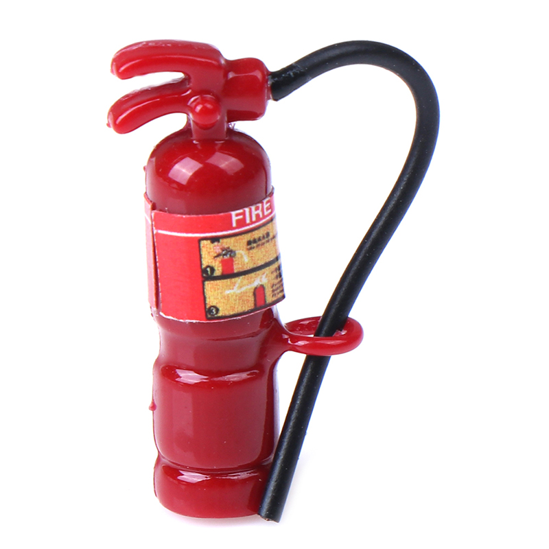 1:12 Miniature Dollhouse Fire Extinguisher Play Doll House Furniture Decor Accessories Cute Mini Toys