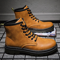 Men Martin boots winter Lace up men shoes 2019 new arrival fashion flock plush winter Keep warm Hard Wearing Men's Casual Shoes